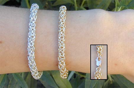 Made a small chainmail bracelet in my metalworking and ...